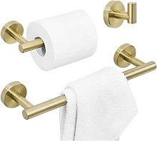3 Piece Bathroom Accessory Set Included Robe Hook