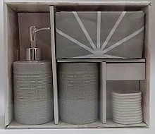3 Piece Bathroom Accessory Set Toothbrush Holder