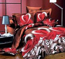 3 Piece Beautifully Designed Floral Duvet Set