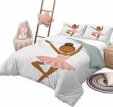 3 Piece Bedding Sets Girls Soft All-Season Cotton