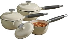 3 Piece Cast Iron Cookware Set Cooks Professional