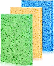 3 Piece Cellulose Cleaning Scrub Sponge Cellulose