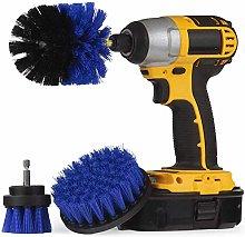 3 Piece Drill Brush Nylon Stiff bristles Cordless