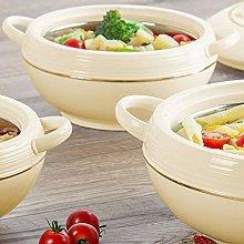3 Piece Food Warmer Insulated Casserole Hot Pot