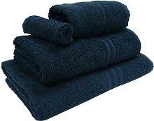 3 Piece Kendra Towel Set Symple Stuff Colour: Navy