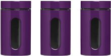 3 Piece Kitchen Canister Storage Stainless Steel