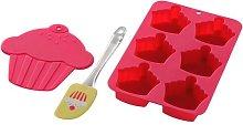 3 Piece Non-Stick Silicone Cupcake Baking Set