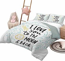 3-Piece Quilt Set I Love You Luxe Bedding 3 Piece