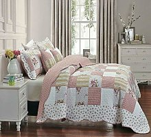 3 Piece Quilted Embossed Floral Home Decor Printed