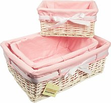 3 Piece Wicker Basket Set Woodluv