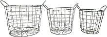 3 Piece Wire Basket Set Borough Wharf