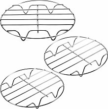 3 Pieces Air Fryer Rack Cooking Steaming Cooling