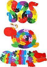 3 Pieces Alphabet Jigsaw Puzzle Wooden Animal