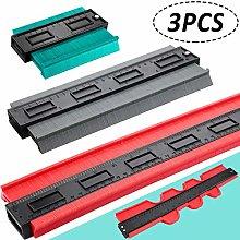 3 Pieces Contour Gauge Duplicator Plastic Contour