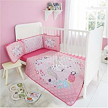 3 Pieces Cot Baby Bumper Set Kids Nursery Bedding