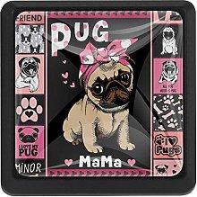 3 Pieces Drawer Knob Pull Handle, Cute Pug Dog