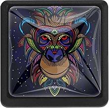 3 Pieces Drawer Knob Pull Handle, Tribe Monkey