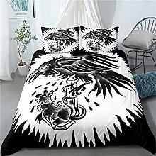 3 Pieces Eagle Catching Mouse Bedding Set Dark