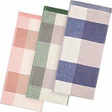 3 Pieces Kitchen Dish Towel Plaid Kitchen Towels