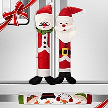 3 Pieces Santa Claus Refrigerator Handle Covers