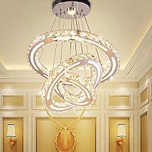 3 Ring LED Modern Crystal Chandeliers Adjustable