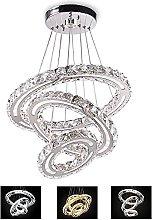 3 Rings Crystal Chandelier, 3 Color Temperatures