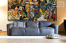 3 seat vintage leather sofa Atsullivan