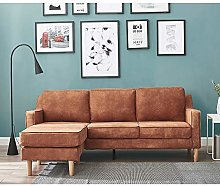 3 Seater Corner Sofas with Footstool L Shaped Sofa