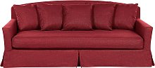 3 Seater Fabric Sofa Red GILJA