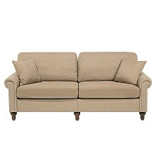 3 Seater Fabric Sofa Sand Beige OTRA