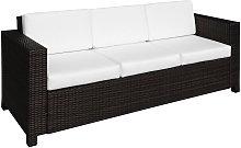 3 Seater Rattan Sofa Wicker Outdoor Furniture