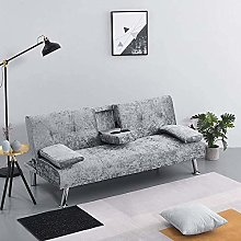 3 Seater Sofa Bed Modern Corner Couch Settee with