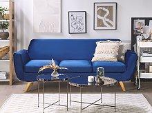 3-Seater Sofa Slipcover Blue Velvet Replacement