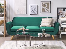 3-Seater Sofa Slipcover Green Velvet Replacement