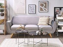 3-Seater Sofa Slipcover Grey Velvet Replacement