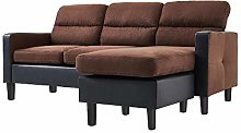 3 Seater Sofa with Reversible Chaise Footstool