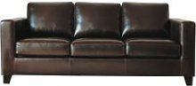 3 Seater Split Leather Sofa in Chocolate