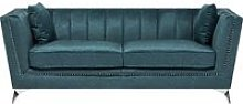 3 Seater Velvet Fabric Sofa Teal GAULA