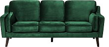 3 Seater Velvet Sofa Green LOKKA