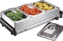 3 Section Buffet Warmer Hotplate & Food Server,