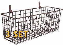 3 Set [Extra Large] Hanging Wall Basket for