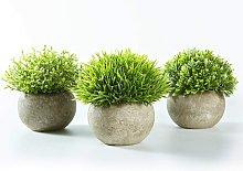 3 sets of indoor artificial plants (green gray