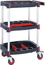3 Shelf Tool Trolley - 1310X550X460MM - GPC
