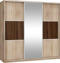 3 Sliding Door Mirrored Wardrobe Width: 220cm