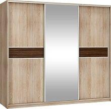 3 Sliding Door Mirrored Wardrobe Width: 240cm