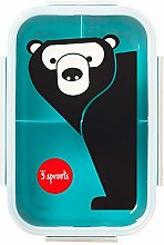 3 Sprouts 3S-IBBBEA Lunch Bento Box Teal, Bear