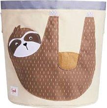 3 Sprouts - Tan Cotton Canvas Sloth Storage Bin - tan | Cotton Canvas - Tan