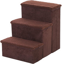 3 Step Pet Stairs Washable Fleece Faux Suede Cover