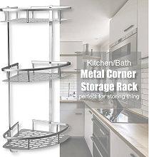 3 Tier Bath Corner Shower Basket Shelf Hanging