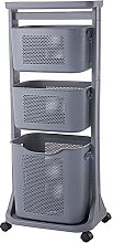 3-Tier Bathroom storage trolley,3 Storage basket